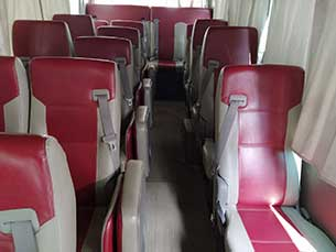 Inside view of Tourist Bus