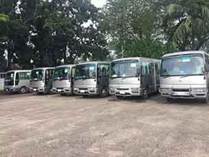 Tourist and Minibus